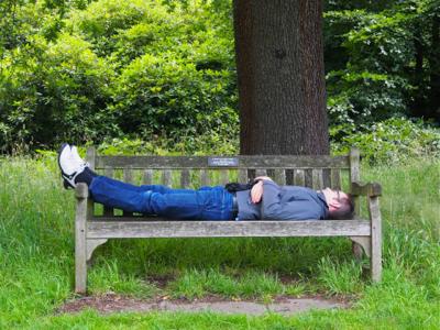 john-on-bench