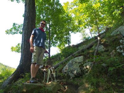 john-and-jack-on-trail-in-woods
