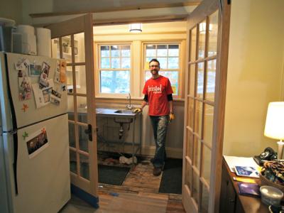 john-visiting-kitchenette
