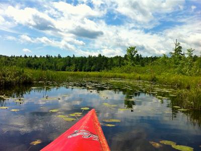 kayak-on-pond
