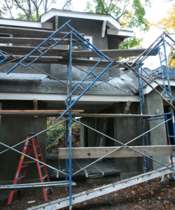scaffolding-in-front-of-breezeway