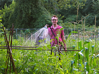 john-watering-allotment
