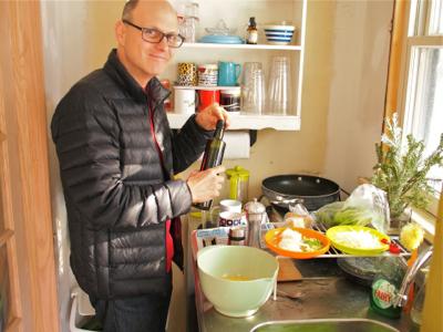 dan-using-kitchenette