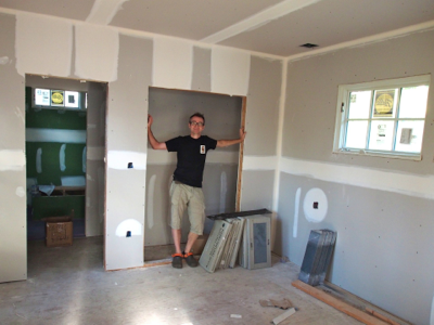 john-with-new-drywall