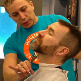 john-getting-beard-trimmed