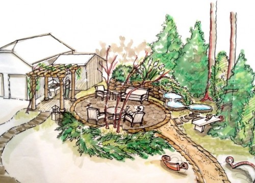 Patio Design Sketch