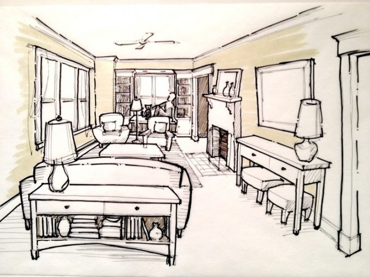 Sloan Eichman Living Room Vision Sketch