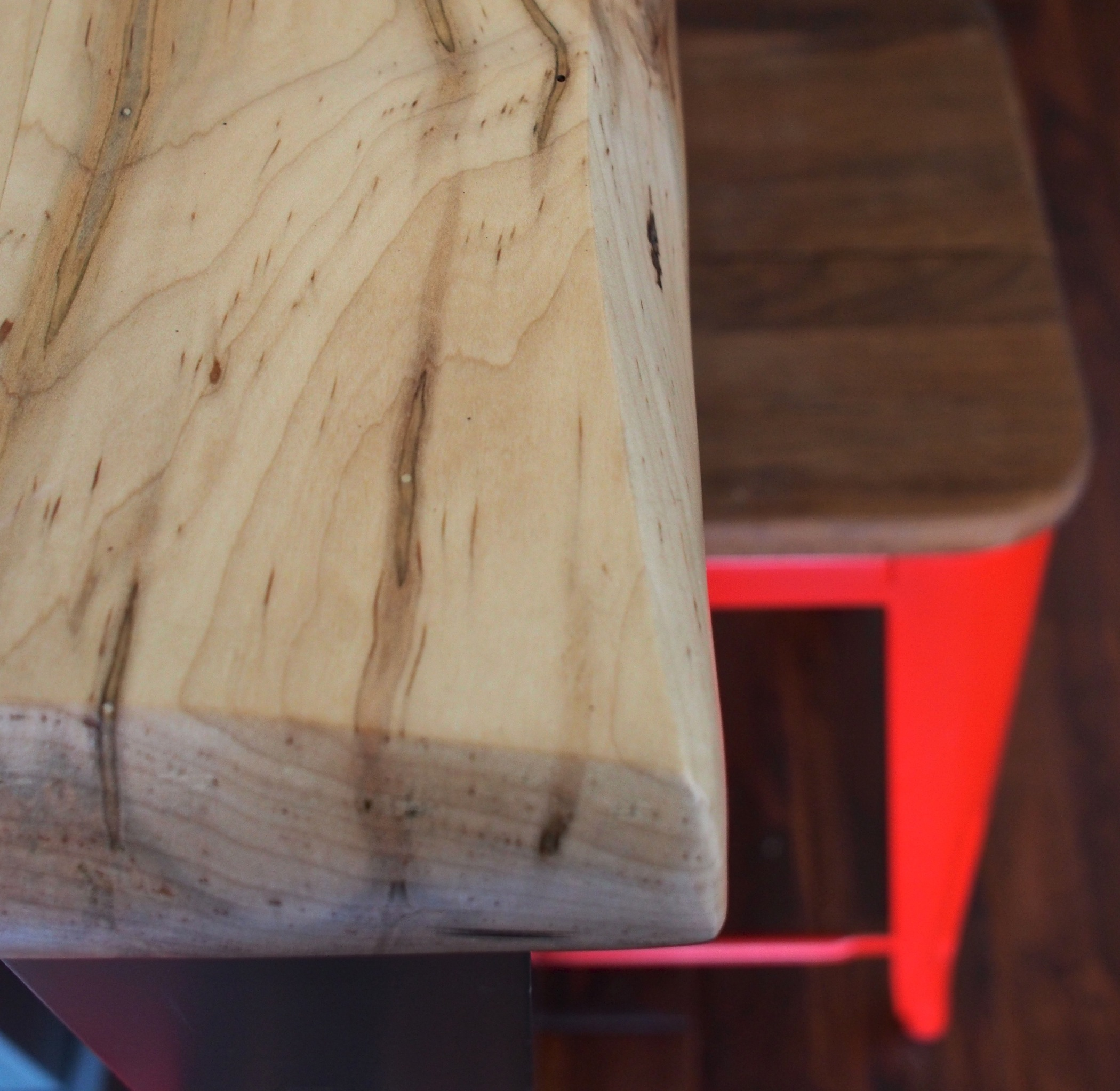 Wormy Maple Wood ~ Farmhouse kitchen with a dash of red dan and john life